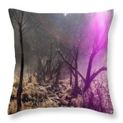 Morning Misty Flare Throw Pillow