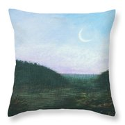 Morning Moon Rise Throw Pillow