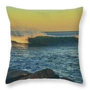 Morning Moonrise Throw Pillow