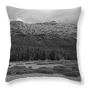 Morning Mountains In Yellowstone Throw Pillow