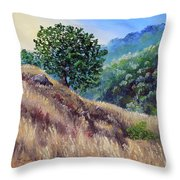 Morning On A Hilltop Throw Pillow