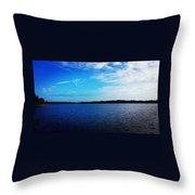 Morning On Bass Lake Throw Pillow