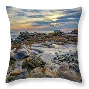 Morning On Casco Bay Throw Pillow