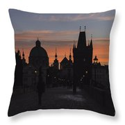 Morning On Charles Bridge Throw Pillow