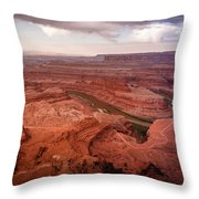 Morning On Dead Horse Point Throw Pillow
