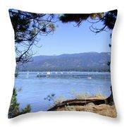 Morning On Lake Tahoe Throw Pillow