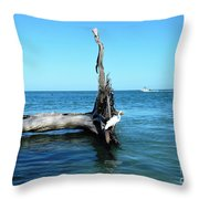 Morning On Longboat Key Throw Pillow