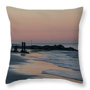 Morning On The Beach At Cape May Throw Pillow