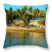 Morning On The Beach Throw Pillow