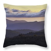Morning On The Blue Ridge Parkway Throw Pillow