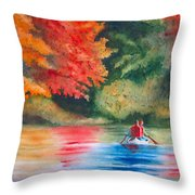 Morning On The Lake Throw Pillow