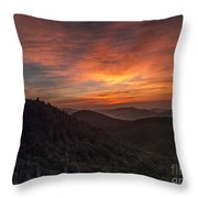 Morning On The Parkway. Throw Pillow