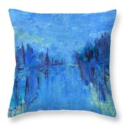 Morning On The Point Throw Pillow