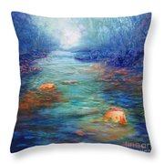 Morning On The Stream #3 Throw Pillow