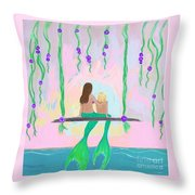 Morning On The Swing Throw Pillow