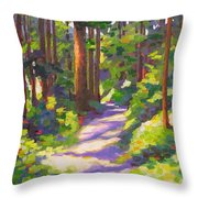 Morning On The Trail 3 Throw Pillow