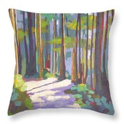 Morning On The Trail Throw Pillow
