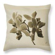 Morning Orchid Throw Pillow by Ben and Raisa Gertsberg