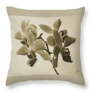 Morning Orchid Throw Pillow