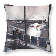 Morning Over Heathrow Throw Pillow