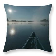 Morning Paddle On The Mississippi Throw Pillow