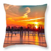 Morning Pier Throw Pillow