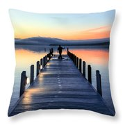 Morning Pier Throw Pillow