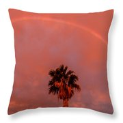 Morning Rainbow Throw Pillow