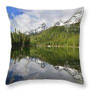 Morning Reflection On String Lake Throw Pillow