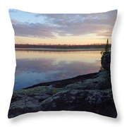 Morning Reflections In The Bwca Throw Pillow