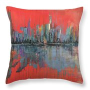 Morning Reflects Illusion Throw Pillow