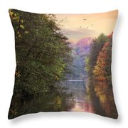 Morning River View  Throw Pillow