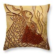 Morning Rose - Tile Throw Pillow