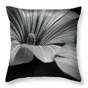 Morning Rose Mallow Throw Pillow