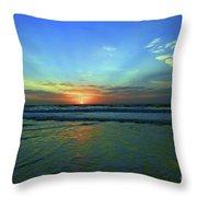 Morning Sea Foam Throw Pillow