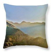 Morning Shadows In The Himalayas Throw Pillow