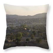 Morning Shine On Udaipur Throw Pillow