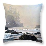 Morning Shore Throw Pillow