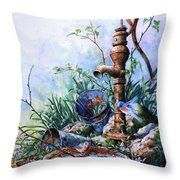 Morning Shower Throw Pillow by Hanne Lore Koehler