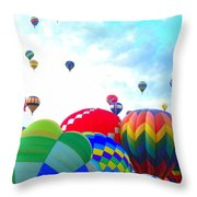 Morning Skies Throw Pillow