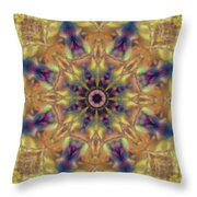 10300 Morning Sky Kaleidoscope 01a Throw Pillow