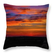 Morning Sky Over Washington D C Throw Pillow