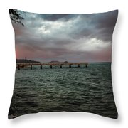 Morning Squall Throw Pillow