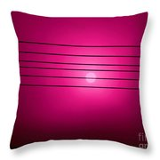 Morning Sun In G Marionberry Throw Pillow