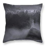 Morning Sun Rising Fog Cades Cove Throw Pillow