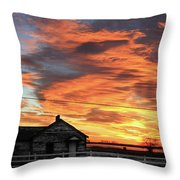 Morning Sunrise 2-14-2011 Throw Pillow