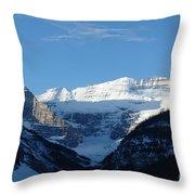 Morning Sunshine Kisses Snowy Peaks Throw Pillow