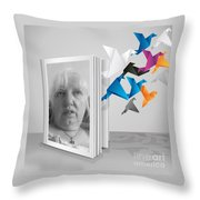 Morning Thoughts Throw Pillow