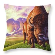 Morning Thunder Throw Pillow