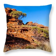 Morning To The Kings Canyon Rim - Northern Territory, Australia Throw Pillow